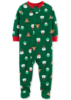 Carter's Baby Boys Holiday-Print Footed Fleece Pajamas