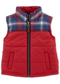 Carter's Baby Boys Plaid Zip-Up Vest