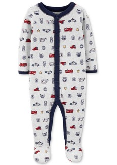 Carter's Baby Boys Printed Footed Coveralls