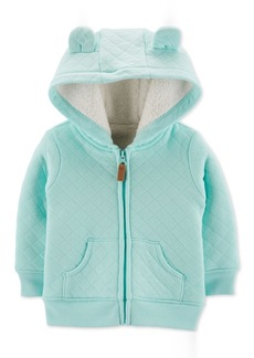 Carter's Baby Boys Quilted Fur-Lined Hoodie