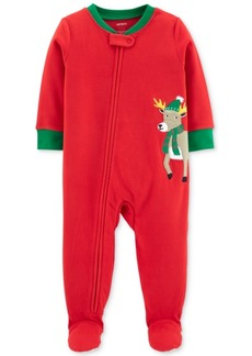 Carter's Baby Boys Reindeer Footed Fleece Pajamas