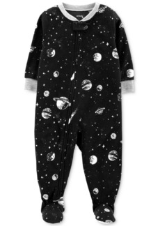 Carter's Baby Boys Space-Print Fleece Footed Pajamas