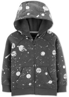Carter's Baby Boys Space-Print Fleece Hoodie