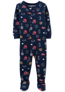 Carter's Baby Boys Sports-Print Footed Pajamas