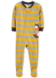 Carter's Baby Boys Striped Husky Footed Pajamas