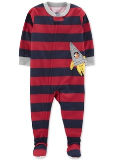 Carter's Baby Boys Striped Rocket Footed Pajamas