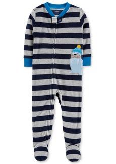 Carter's Baby Boys Striped Walrus Footed Pajamas
