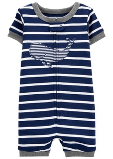 Carter's Baby Boys Whale Romper Pajamas