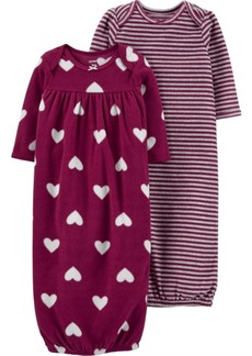 Carter's Baby Girl 2-Pack Sleeper Gowns