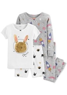 b3eb9813b Carter s Carter s Little   Big Girls 4-Pc. Bff Snug Fit Cotton PJs ...