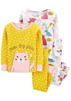 Carter's Baby Girl 4-Piece Bear Snug Fit Cotton PJs