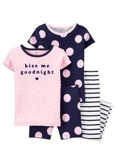Carter's Baby Girl Polka Dots 100% Snug Fit Cotton Pajamas