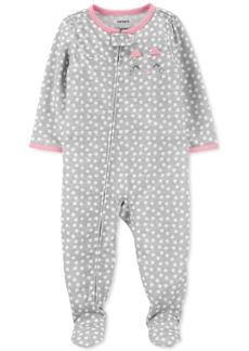Carter's Baby Girls 1-Pc. Cat Dot-Print Footie Pajama