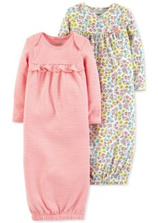 Carter's Baby Girls 2-Pack Cotton Sleeper Gowns