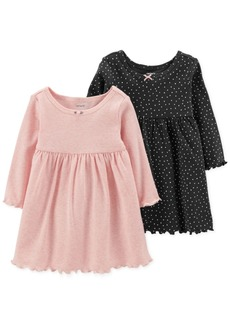 Carter's Baby Girls 2-Pack Popover Dresses
