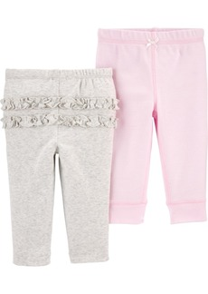 Carter's Baby Girls 2-Pack Pull-On Cotton Pants