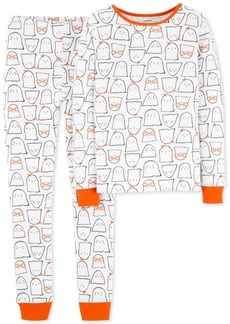 Carter's Baby Girls 2-Pc. Ghost-Print Snug-Fit Cotton Pajama Set