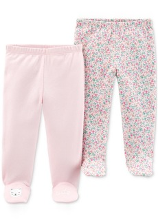 Carter's Baby Girls 2-Pk. Cotton Footed Pants
