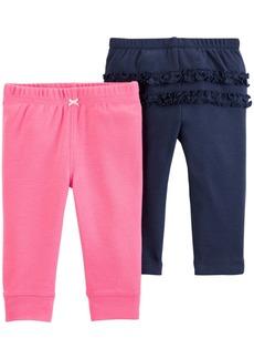 Carter's Baby Girls 2-Pk. Cotton Pants