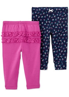Carter's Baby Girls 2-Pk. Cotton Pull-On Pants