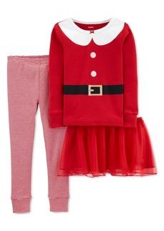 Carter's Baby Girls 3-Pc. Santa Top, Tutu & Pajama Set