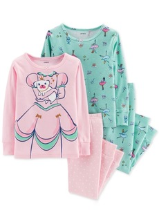 a48813505 Carter s Carter s 4-Pc. Twirlin  Off To Sleep Cotton Pajama Set ...