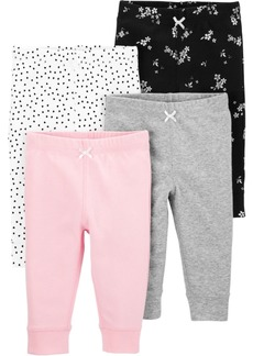 Carter's Baby Girls 4-Pk. Cotton Pull-On Pants