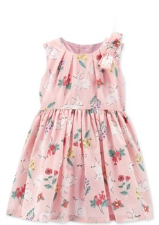 Carter's Baby Girls Bunny-Print Bow Dress