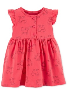Carter's Baby Girls Cat-Print Cotton Dress