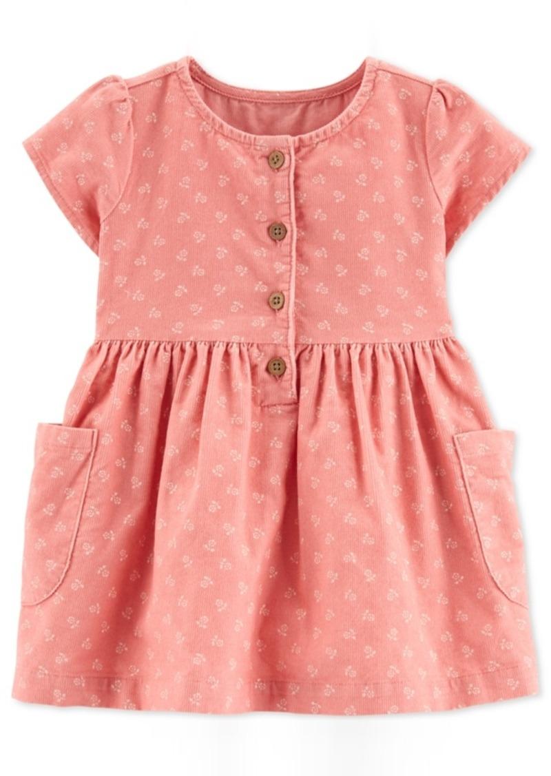 Carter's Baby Girls Cotton Floral-Print Corduroy Dress