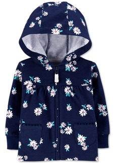 Carter's Baby Girls Cotton Floral-Print French Terry Hoodie