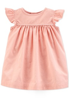 Carter's Baby Girls Cotton Glitter Dot Corduroy Dress