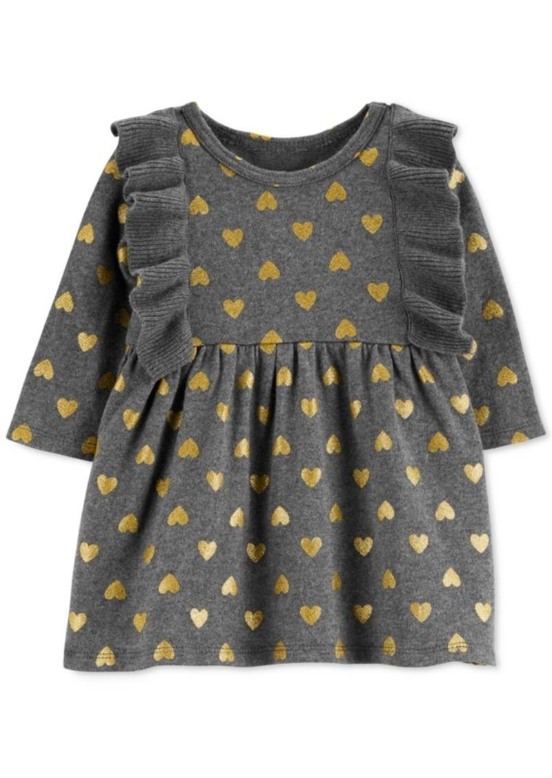 4e46c6422 Carter's Carter's Baby Girls Cotton Heart-Print Sweater Dress   Dresses