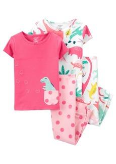Carter's Baby Girls Dinosaur Pajama Set, 3 Pieces