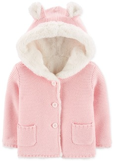 Carter's Baby Girls Faux-Fur-Lined Cardigan