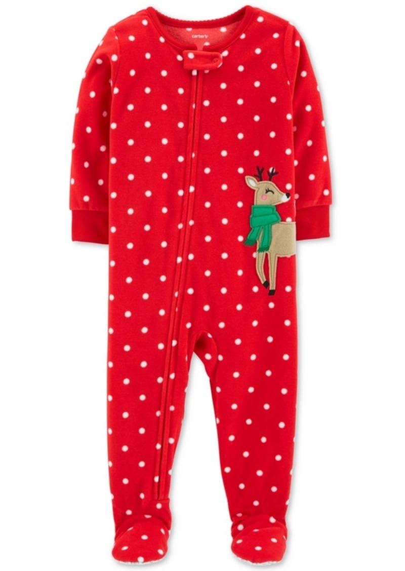 34277b854 Carter s Carter s Baby Girls Fleece Reindeer Pajamas