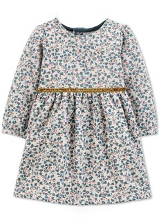 Carter's Baby Girls Floral-Print Fleece Dress