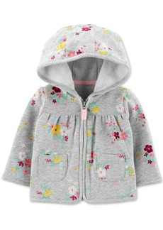 Carter's Baby Girls Floral-Print Fleece Hoodie