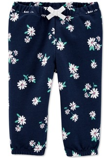 Carter's Baby Girls Floral-Print French Terry Pants