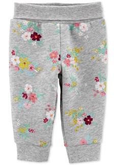 Carter's Baby Girls Floral-Print Pull-On Fleece Pants