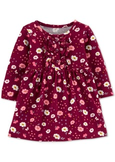 Carter's Baby Girls Floral-Print Ruffled Cotton Dress