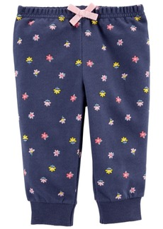 Carter's Baby Girls Floral Pull-On Pants