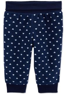 Carter's Baby Girls Heart Fleece Pants