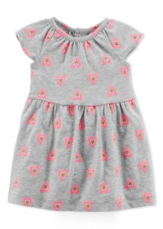 Carter's Baby Girls Heart-Print Cotton Dress
