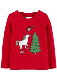 Carter's Baby Girls Holiday Unicorn-Print Cotton T-Shirt