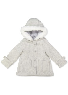 Carter's Baby Girls Hooded Faux-Fur-Trim Jacket