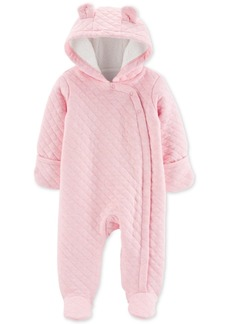Carter's Baby Girls Hooded Quilted Bunting
