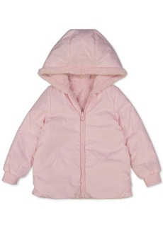 Carter's Baby Girls Hooded Reversible Faux-Fur Jacket