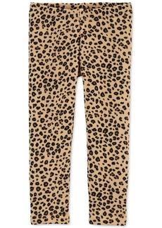 Carter's Baby Girls Leopard-Print Fleece Leggings