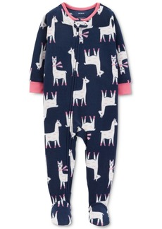 Carter's Baby Girls Llama Footed Fleece Pajamas